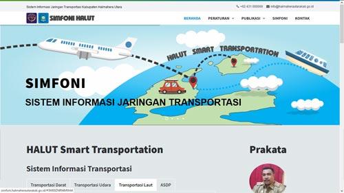 Sistem Informasi Jaringan Transportasi Kabupaten Halmahera Utara